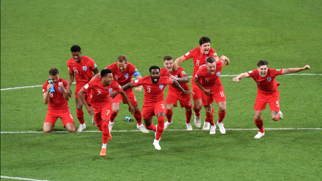England Beat Colombia