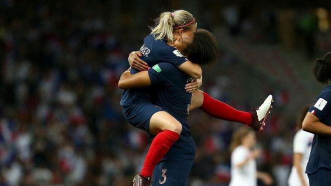 Wendie Renard and Le Sommer Celebrate Their Win