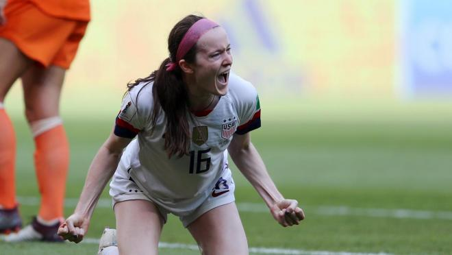 Rose Lavelle After Scoring A Goal In The World Cup Final
