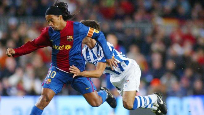 All Ronaldinho Barcelona goals