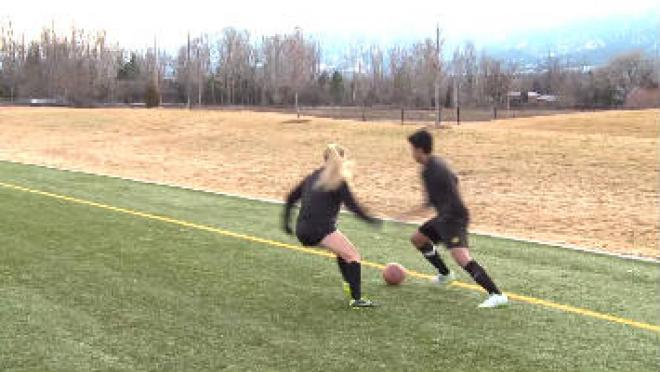 Receiving With Inside Of Foot (Ground) Soccer Skills Training Video