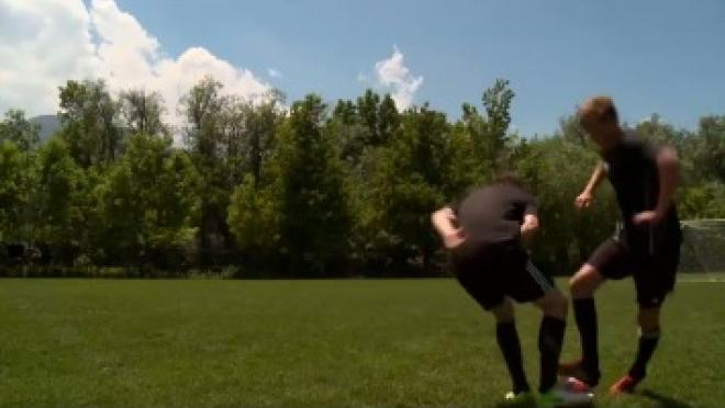 Blocked Tackle Soccer Skills Training Video