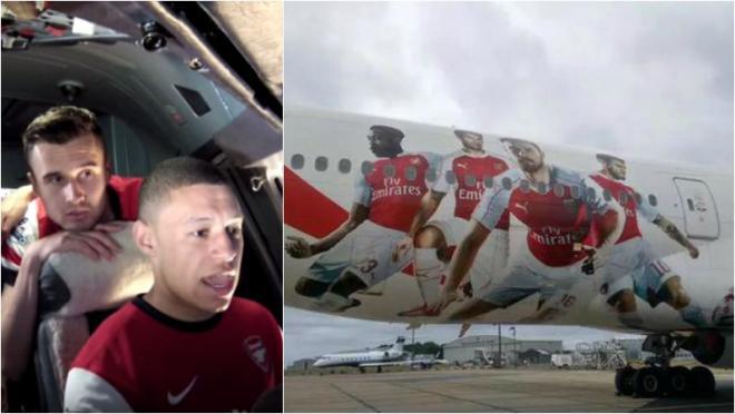 Emirates plane ready to take-off