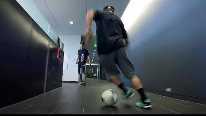 GoPro Headquarters plays office soccer