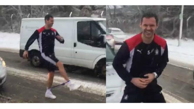 The David McCracken Snowstorm Workout: training on the snow covered highway