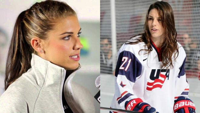 Alex Morgan and Hilary Knight