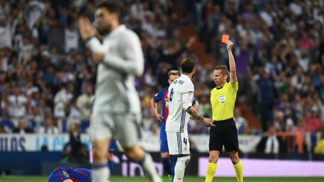 Footballers With The Most Red Cards: Sergio Ramos Red Card