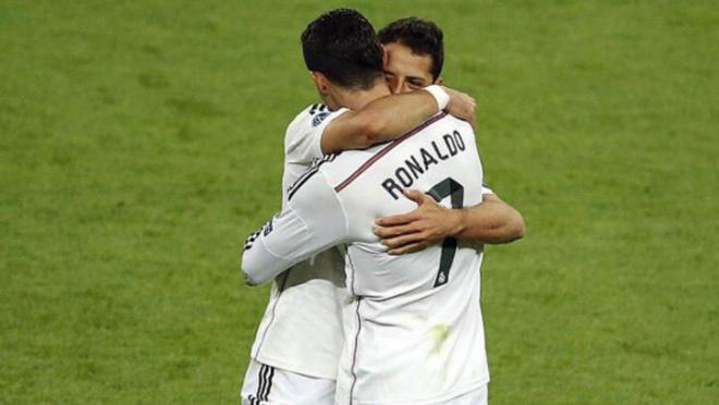 Chicharito and Cristiano Ronaldo