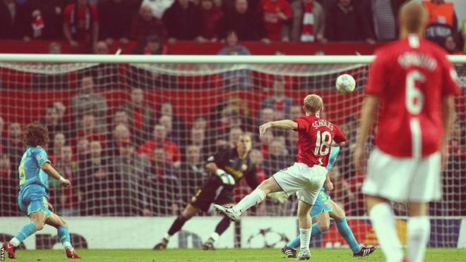 Paul Scholes goals from outside the box.