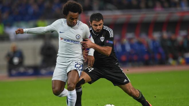 Chelsea second goal vs. Qarabag