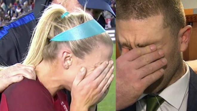 Julie Ertz reaction to Super Bowl news