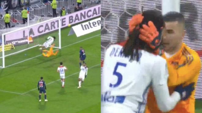 Lyon goal-line clearance