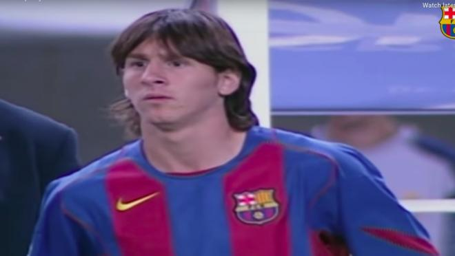 Lionel Messi Barcelona debut