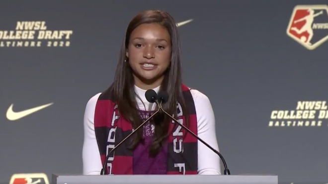 NWSL Draft 2020 Sophia Smith