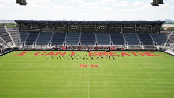BLM message at Audi Field