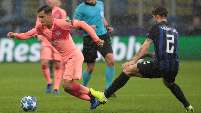 Philippe Coutinho vs Inter Milan