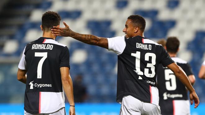 Danilo and Cristiano Ronaldo