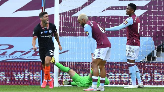 Christian Pulisic goal vs Aston Villa
