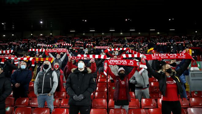 Liverpool first You'll Never Walk Alone