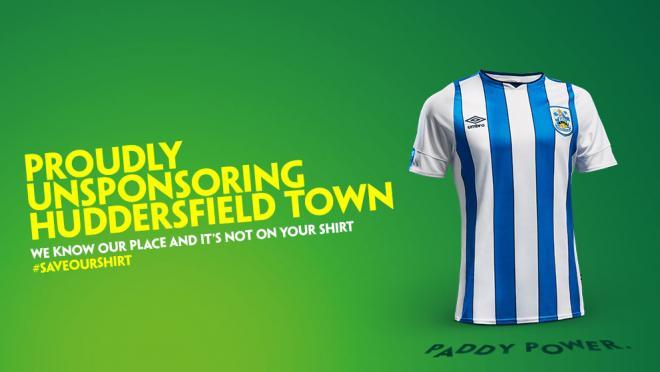 Huddersfield Paddy Power sponsor