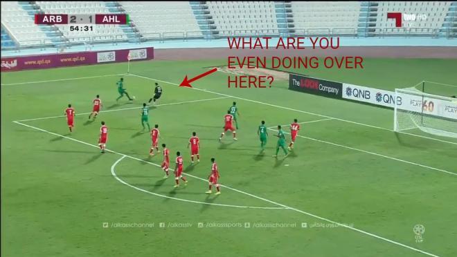 Qatari League Cup howler