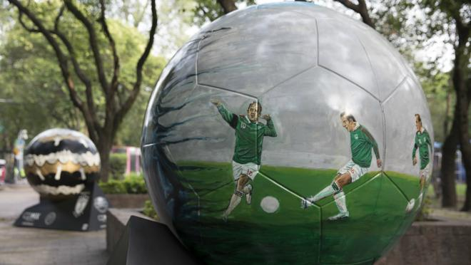 The Beautiful, Larger Than Life Soccer Balls Adorning Mexico City
