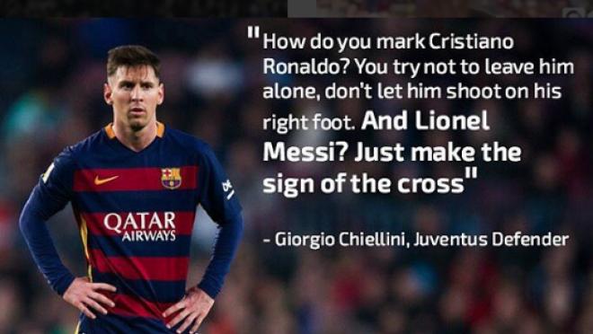 Chiellini Marking Messi Quote
