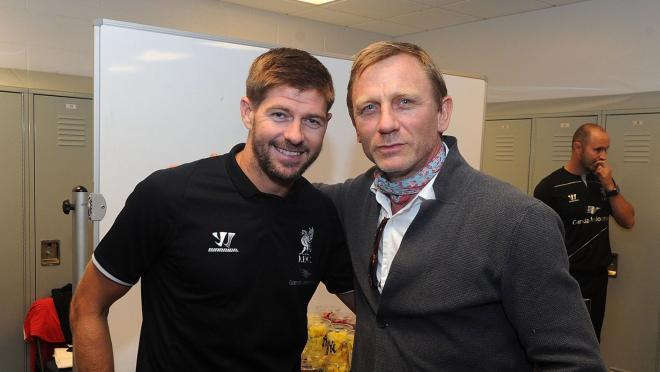 Steven Gerrard and Daniel Craig