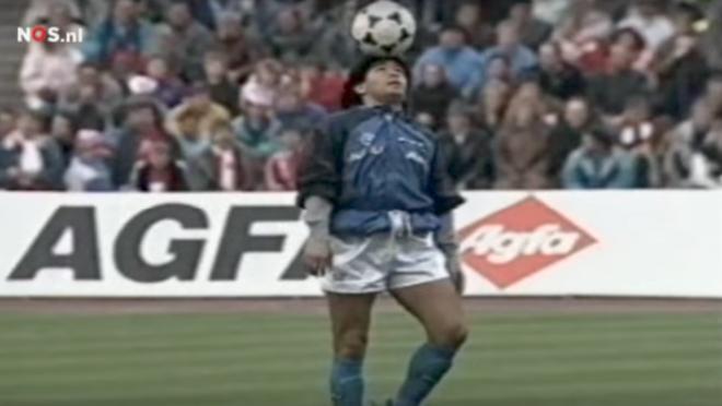 Maradona pregame dance Napoli