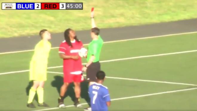Marshawn Lynch plays Soccer