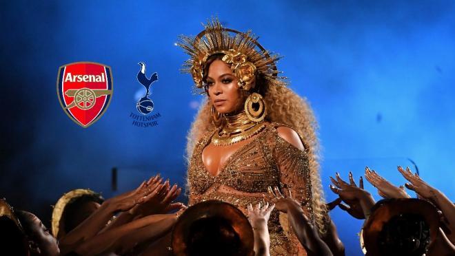 Beyonce says Tottenham vs Arsenal
