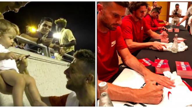 Thiago Motta Signing Babies