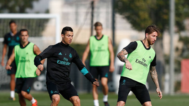 Ronaldo in Training