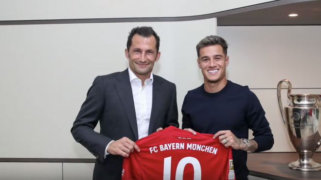 Coutinho's First Day At Bayern Munich