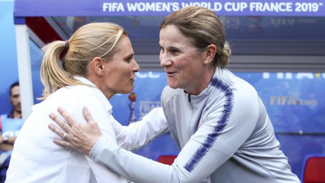 Sarina Wiegman and Jill Ellis