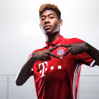 David Alaba of Bayern Munich