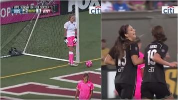 alex moran's best goal, she laughs it off.