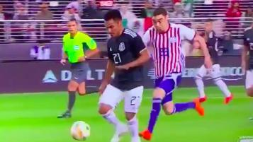 Miguel Almiron red card