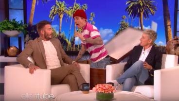 Justin Bieber Escapes From His Box And Scares The Hell Out Of David Beckham
