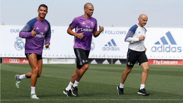 Cristiano Ronaldo Returns To Real Madrid Training In Race For Fitness
