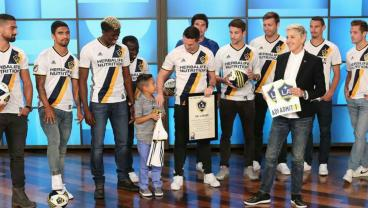 Ellen DeGeneres Gives The Gift Of Soccer To Eight-Year-Old Man City Fan