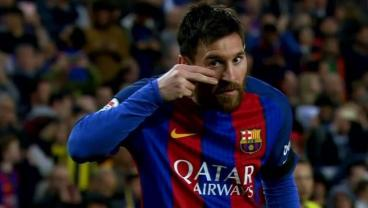 Messi Used His Celebration Against Sevilla To Raise Pediatric Cancer Awareness