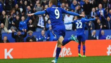 Jamie Vardy Equalizes Against Atletico Madrid