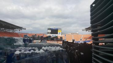More Important Things Than Soccer Going On At Houston Dynamo's Stadium