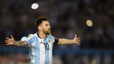 Lionel Messi Nets Two In Eight Minutes, Gives Argentina 2-1 Lead At Half