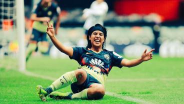 21-Year-Old America Striker Lucero Cuevas Scores Another Stunner In Liga MX Femenil
