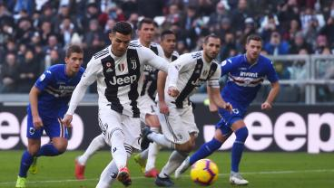 Cristiano Ronaldo Scores Two More As VAR Saves Juve Late