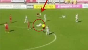 Goalkeeper Celebrates Full-Time Whistle With Punt That Goes Horribly Wrong
