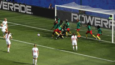 England Opens The Scoring Against Cameroon With The Greatest Play In Sports — The Indirect Free Kick In The Box