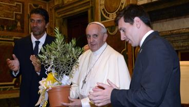 """Pope Francis Says Lionel Messi """"Is Not God,"""" But That Free Kick Was Divine"""